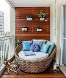 Exciting Small Balcony Decorating For Farmhouse37