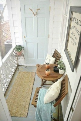 Exciting Small Balcony Decorating For Farmhouse43