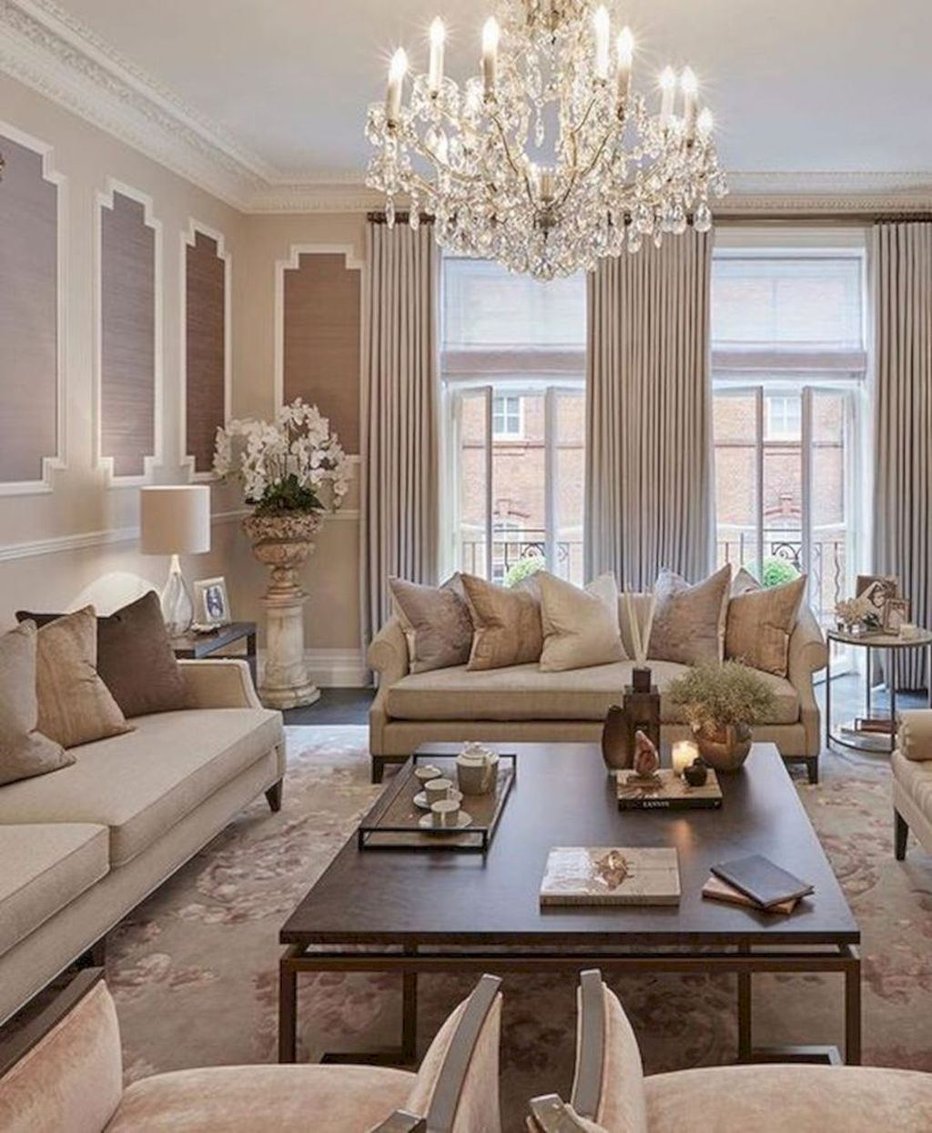 40 Luxurious And Elegant Living Room Design Ideas Homishome