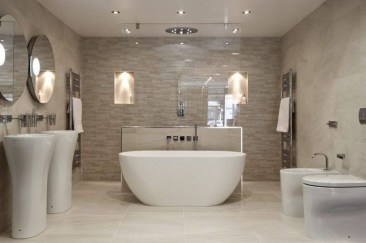 Simple Stone Bathroom Design Ideas18