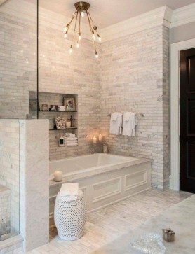 Simple Stone Bathroom Design Ideas43