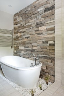 Simple Stone Bathroom Design Ideas47