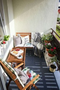 Awesome Small Balcony Ideas For Apartment40