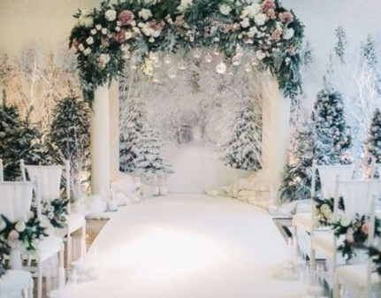 Awesome Winter Wonderland Wedding Decoration20