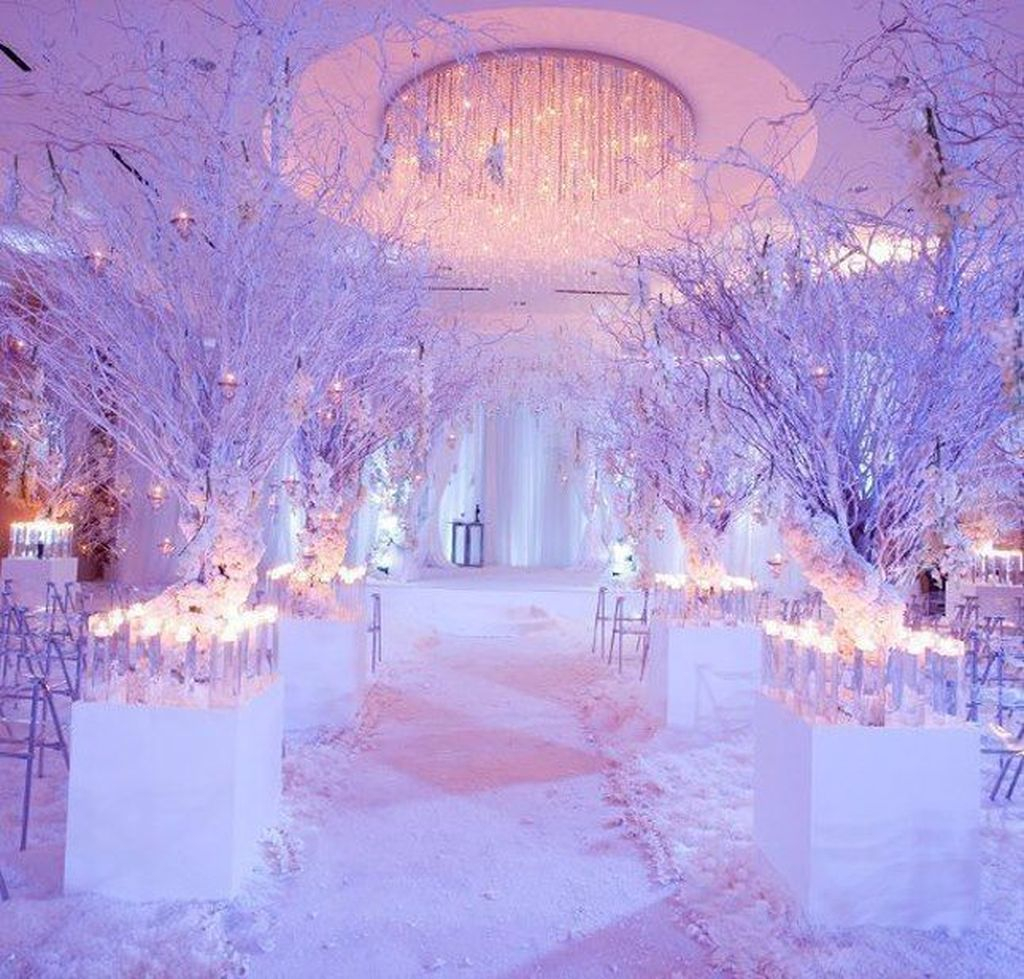 Awesome Winter Wonderland Wedding Decoration26