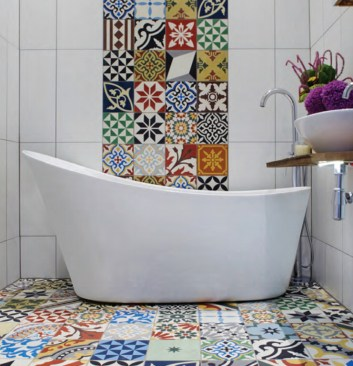 Bathroom Concept With Stunning Tiles09