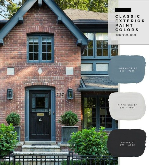 Best Exterior Paint Color Ideas Red Brick31