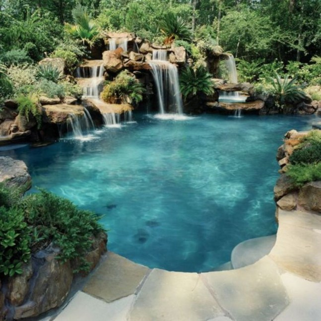 Landscaping Ideas For Backyard Swimming Pools20