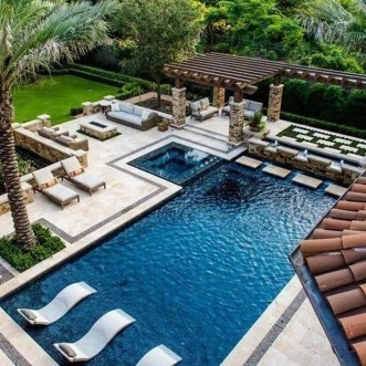 Landscaping Ideas For Backyard Swimming Pools25