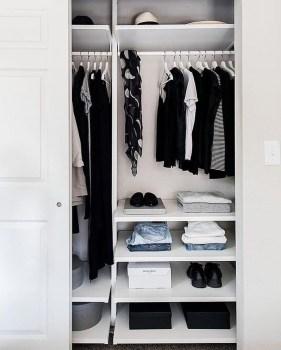 The Best Design An Organised Open Wardrobe17