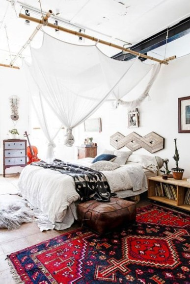 Awesome Bohemian Bedroom Tapestry Decorating Ideas18