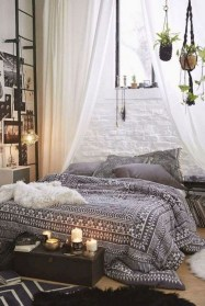 Awesome Bohemian Bedroom Tapestry Decorating Ideas29
