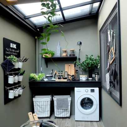 Beautiful Ideas For Tiny Laundry Spaces04
