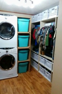 Beautiful Ideas For Tiny Laundry Spaces25