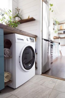 Beautiful Ideas For Tiny Laundry Spaces26