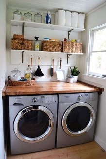 Beautiful Ideas For Tiny Laundry Spaces27