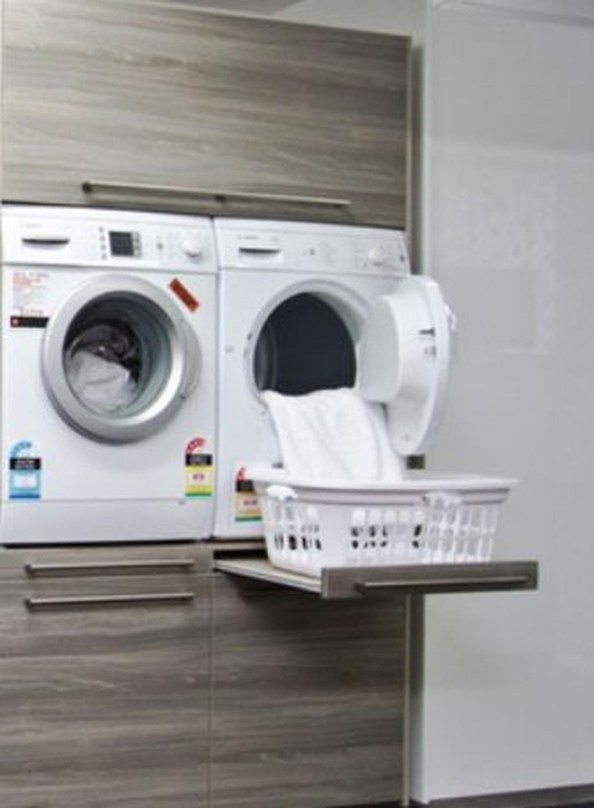 Beautiful Ideas For Tiny Laundry Spaces35