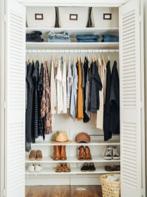 The Best Small Wardrobe Ideas For Your Apartment31