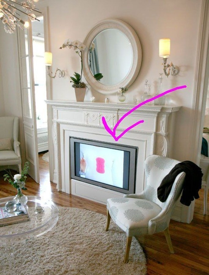 Top Fantastic Way To Hide Your Tv Diy Projects21