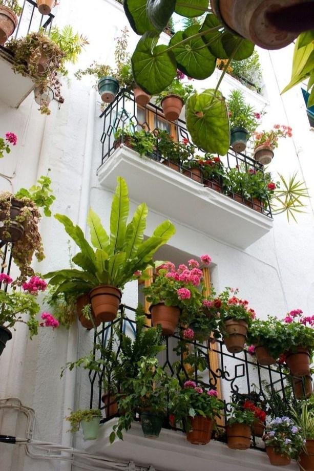 Gorgeous Flower On Balcony Ideas41