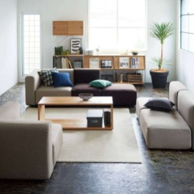 Modern Japanese Living Room Decor22