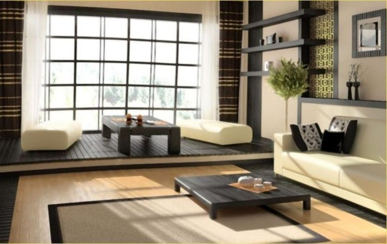 Modern Japanese Living Room Decor36