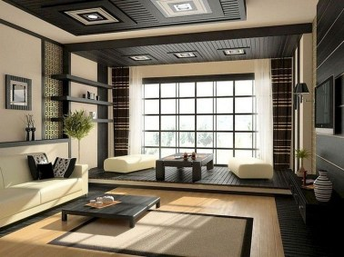 Modern Japanese Living Room Decor40