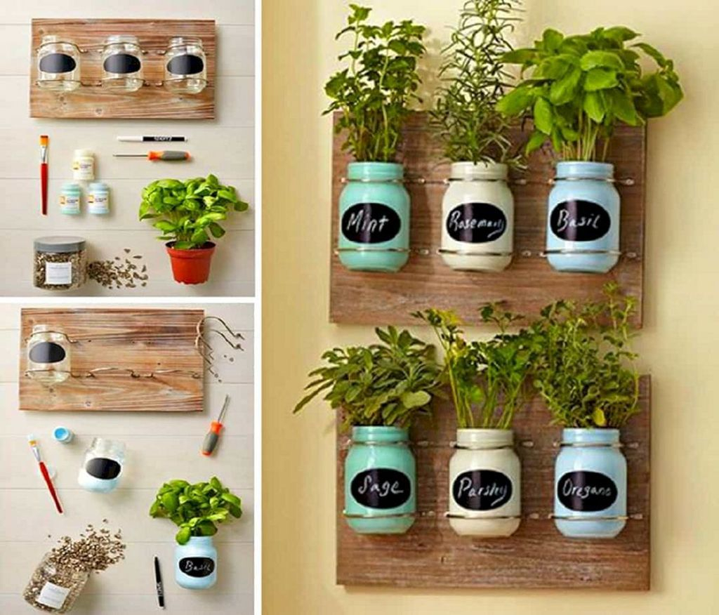 Simple Indoor Herb Garden Ideas For More Healthy Home Air38