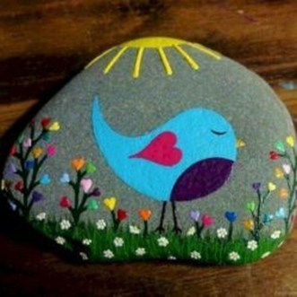 Simple Painted Rock Ideas For Garden36