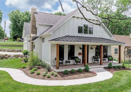 Top Modern Farmhouse Exterior Design Ideas26