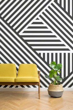 Awesome Striped Painted Wall Design And Decorating Ideas16