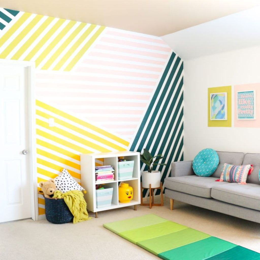 10 Awesome Striped Painted Wall Design And Decorating Ideas