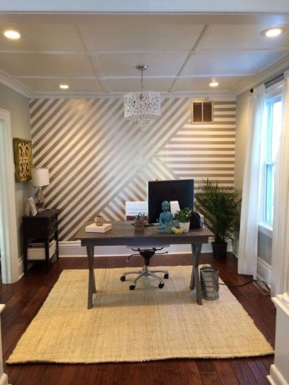 Awesome Striped Painted Wall Design And Decorating Ideas38