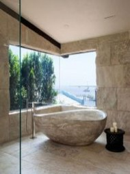 Best Natural Stone Floors For Bathroom Design Ideas18
