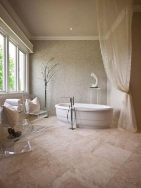Best Natural Stone Floors For Bathroom Design Ideas37