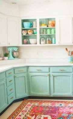 Charming Kitchen Cabinet Decorating Ideas26