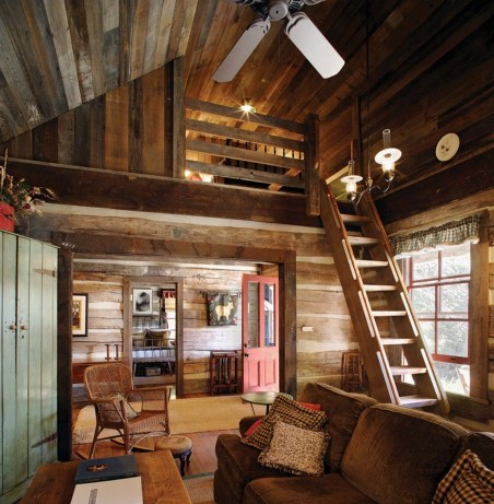 Gorgeous Log Cabin Style Home Interior Design03