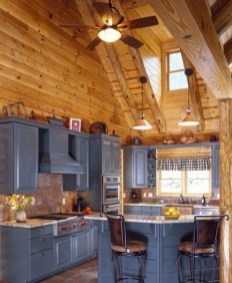 Gorgeous Log Cabin Style Home Interior Design08