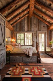 Gorgeous Log Cabin Style Home Interior Design09