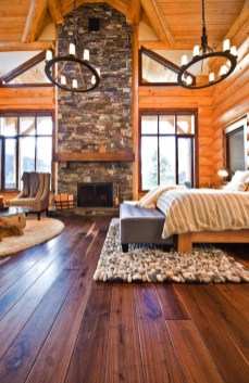 Gorgeous Log Cabin Style Home Interior Design12