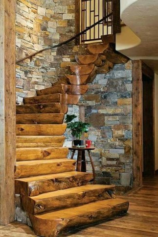 Gorgeous Log Cabin Style Home Interior Design33