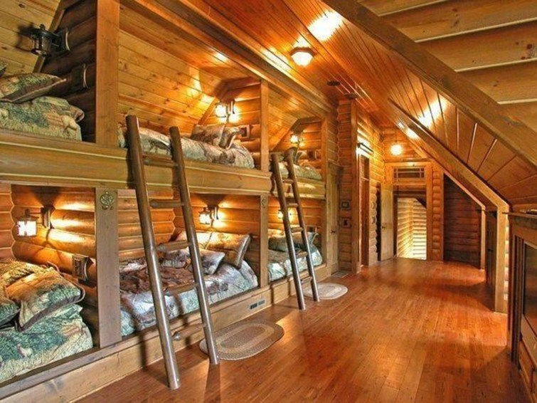 Gorgeous Log Cabin Style Home Interior Design46
