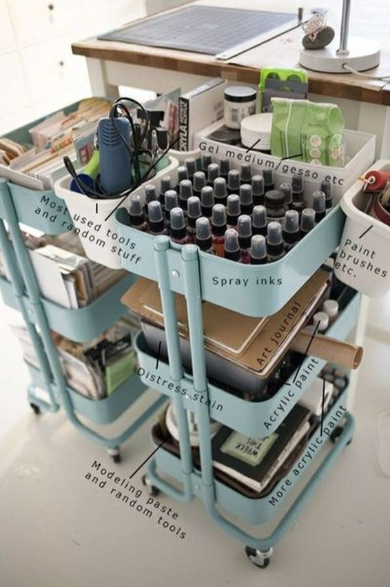 Stunning Diy Portable Office Organization Ideas18