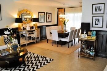 Wonderful Black White And Gold Living Room Design Ideas01