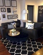 Wonderful Black White And Gold Living Room Design Ideas09
