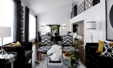 Wonderful Black White And Gold Living Room Design Ideas12