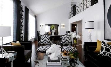 wonderful orange black bedroom ideas | 38 Wonderful Black White And Gold Living Room Design Ideas ...