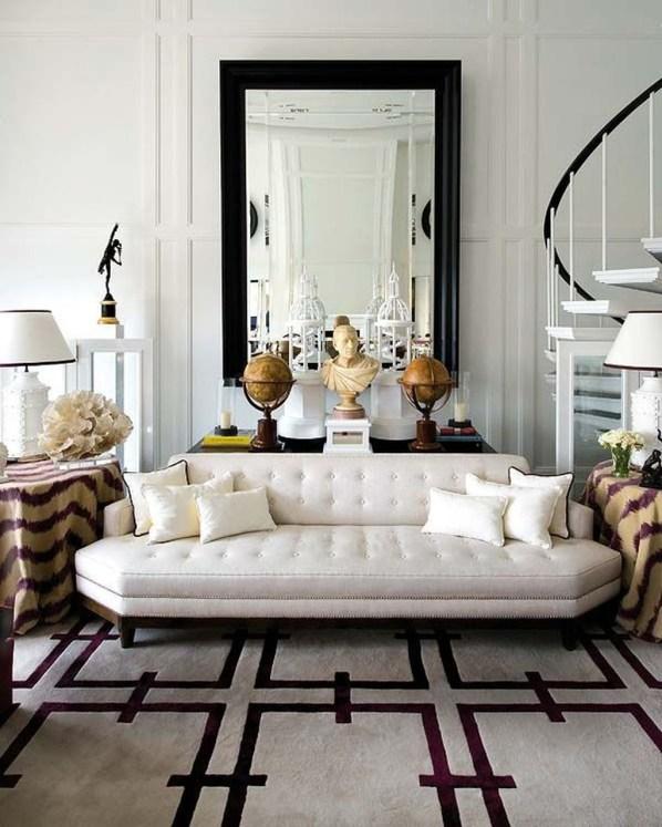 Wonderful Black White And Gold Living Room Design Ideas30