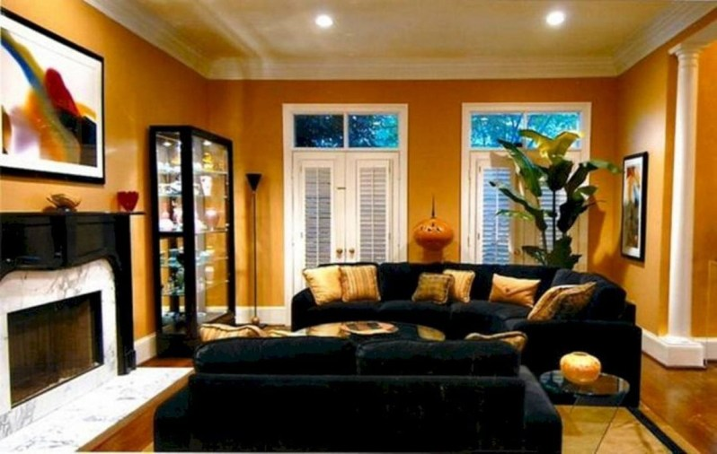 Wonderful Black White And Gold Living Room Design Ideas33