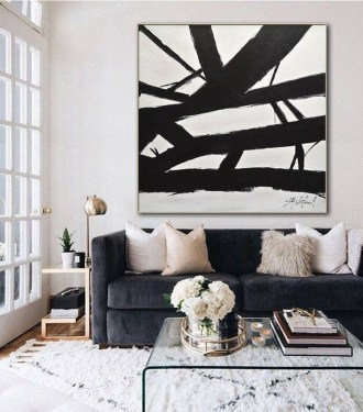 Wonderful Black White And Gold Living Room Design Ideas36